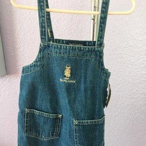 NWT Ralph Lauren Teddy Bear Denim Dress